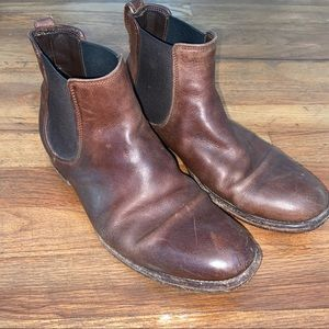 Vince Burroughs Brown Leather Boots